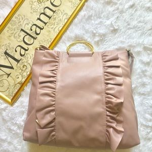 Handbags - 👜Gorgeous GOLD RING Soft Lilac Tote 👜NWT🏷